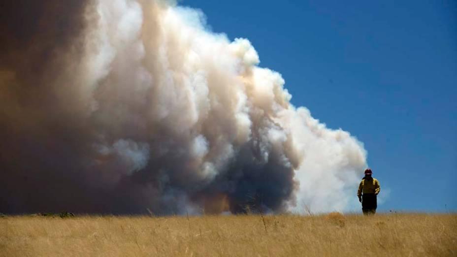 Incêndio na cidade de Springerville, Arizona