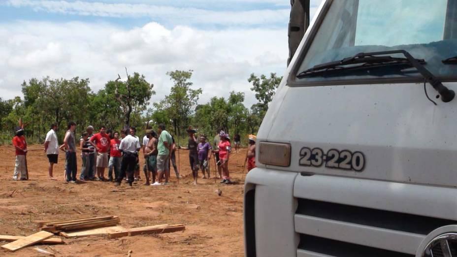Grupo não aceita presença de máquinas em área vizinha à tribo