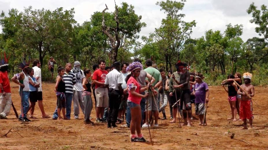 Nesta sexta-feira, indígenas conseguiram parar obras de empreiteira