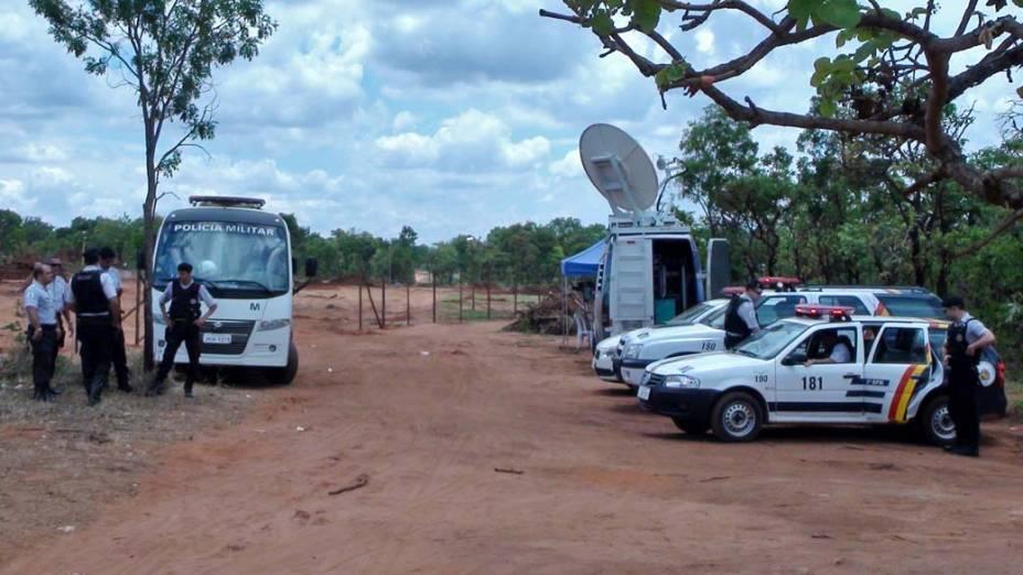 Polícia controla acesso a terreno requisitado por índios