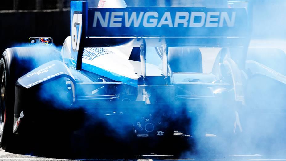 Josef Newgarden durante o treino de classificação da São Paulo Indy 300