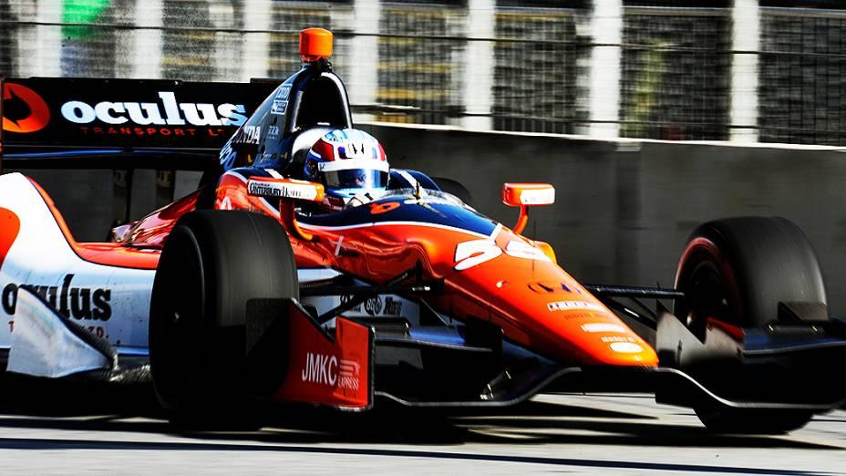 Tristan Valtier, durante a Indy 300
