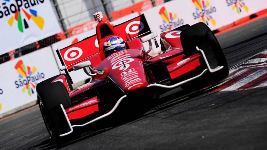 Scott Dixon durante o treino de classificação da São Paulo Indy 300