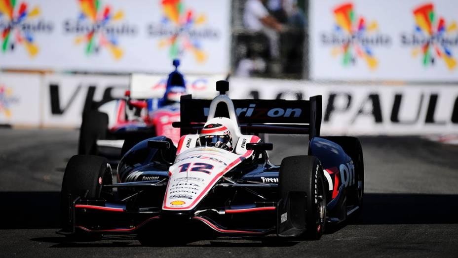 Will Power durante o treino de classificação da São Paulo Indy 300