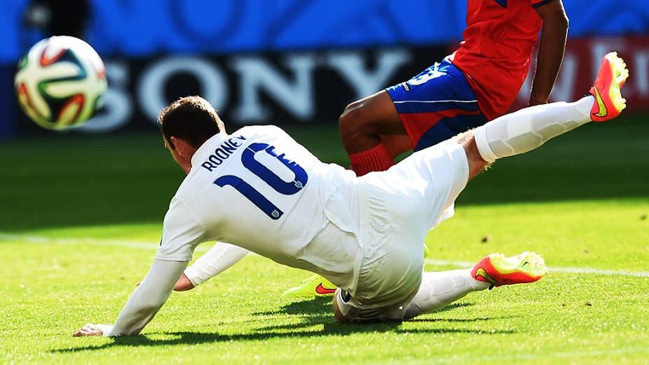 A despedida da seleção inglesa da Copa do Mundo, no empate sem gols com a Costa Rica, no Mineirão, em Belo Horizonte