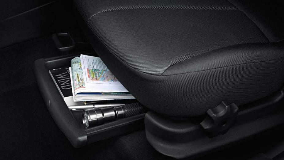 Detalhe do interior do novo HB20, compacto da Hyundai, apresentado na Bahia