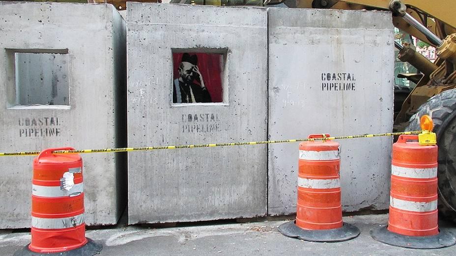 Obra de Banksy intitulada Concrete confessional em Manhattan