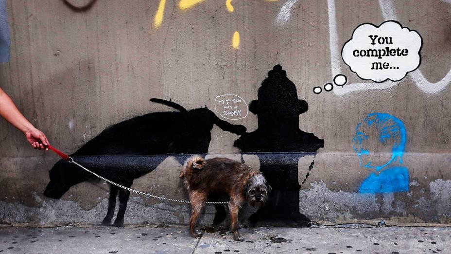 As intervenções de Banksy em Nova York incomodaram o prefeito da cidade, Michael Bloomberg que chegou a dizer que os grafites eram um sinal de decadência e perda de controle