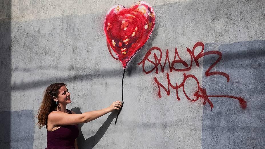 Instalação de Banksy no bairro do Brooklyn, em Nova york