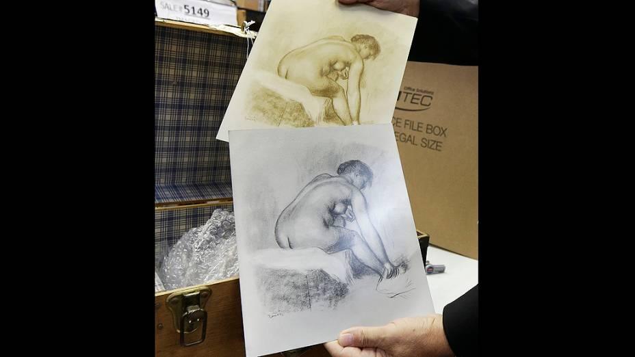 Exemplos de águas-fortes de Pierre-Auguste Renoir. O arquivo pessoal do artista francês vai a leilão nos Estados Unidos