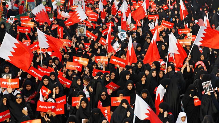 Manifestantes fazem protesto contra a realização do GP de Fórmula 1 no Bahrein
