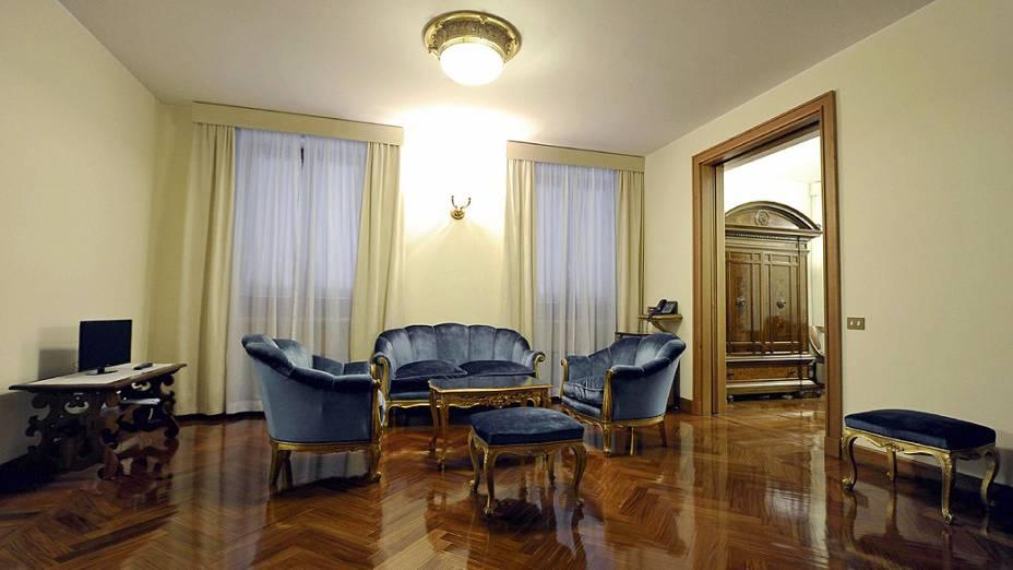 Apartamento da Casa Santa Marta, residência dentro do Vaticano, onde o cardeais estão hospedados durante a realização do conclave