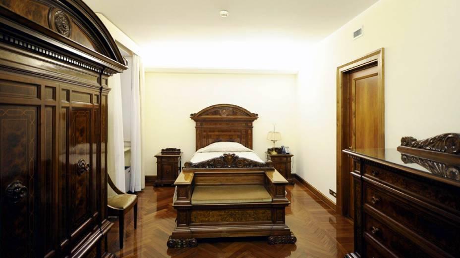 Quarto onde o novo papa se hospederá temporariamente após sua eleição na Casa Santa Marta, residência dentro do Vaticano