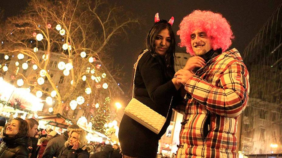 Celebração do Ano Novo em Budapeste, na Hungria