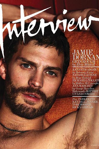 O ator Jamie Dornan na capa da revista Interview