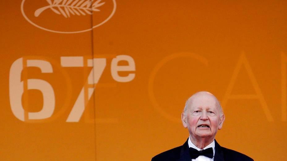 O diretor de Mr. Turner, Gilles Jacob chega para a cerimônia do segundo dia do 67º Festival de Cinema de Cannes, na França