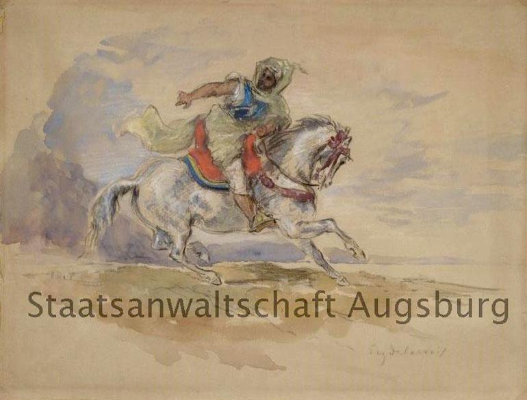 Arab Riding on Horseback, de Eugene Delacroix, está entre as obras encontradas no tesouro nazista