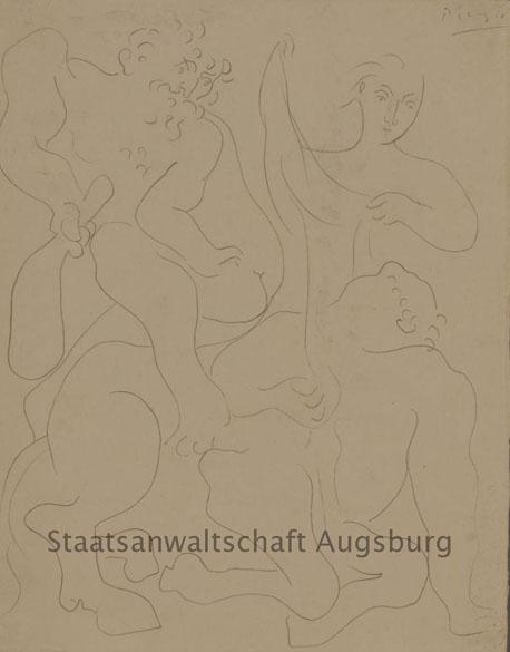 Desenho de Picasso é uma das obras encontradas no tesouro nazista