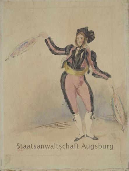 Desenho de Eugene Delacroix que está entre as obras encontradas no tesouro nazista