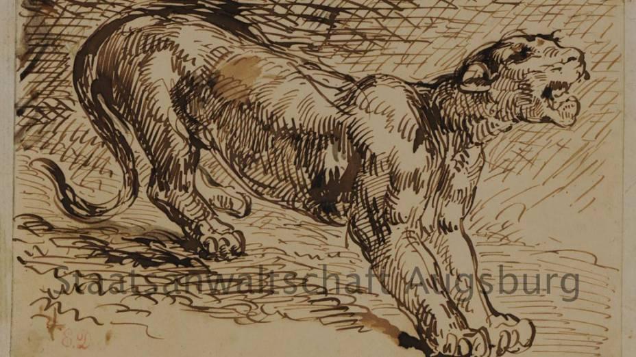 Lioness, de Eugene Delacroix, está entre as obras encontradas no tesouro nazista