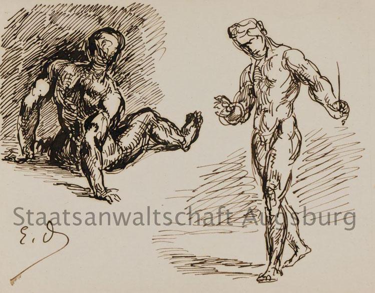 Two Men, de Eugene Delacroix, está entre as obras encontradas no tesouro nazista