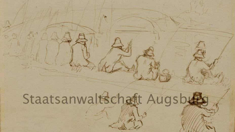 Desenho de Paul Cézanne é uma das obras encontradas no tesouro nazista