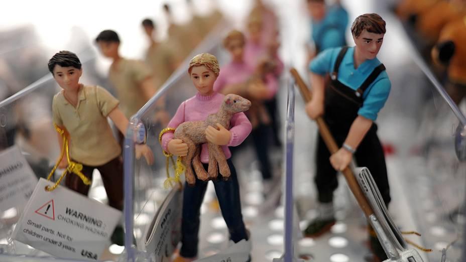 Feira anual de brinquedos realizada no Olympia Exhibition Centre, em Londres