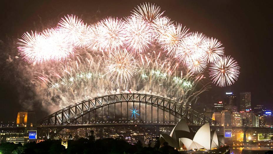 Celebração de Ano Novo em Sydney, na Austrália