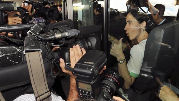 A blogueira Yoani Sánchez em Brasília, em 20/02/2013