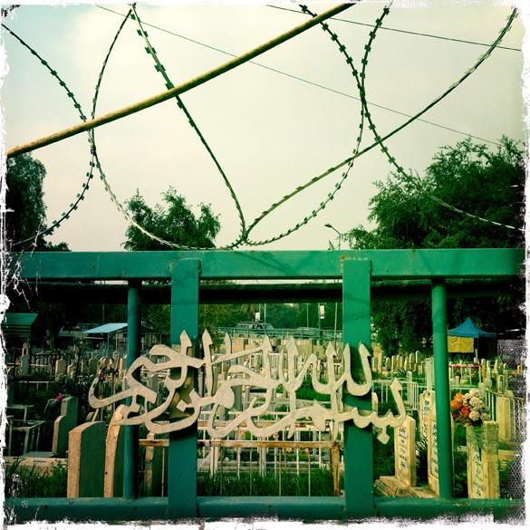 Cemitério dos mártires sunitas, no bairro de Al-Adhamiyah em Bagdá