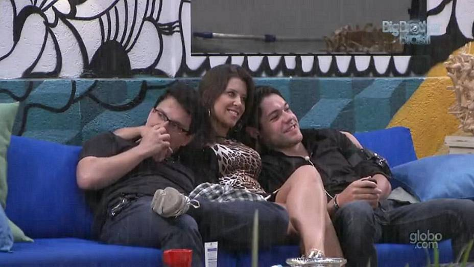 Ivan, Andressa e Nasser no BBB13