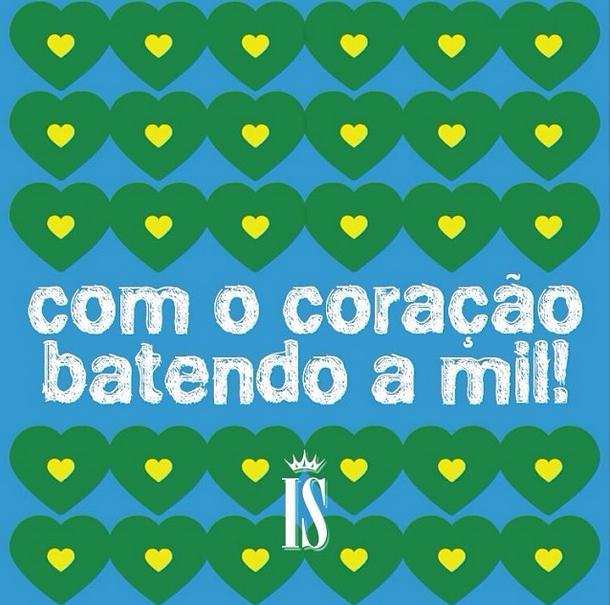 Ivete Sangalo se diz emocionada com o jogo do Brasil: Coração batendo a um milhão