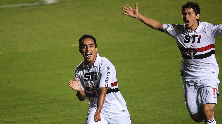 Gol de Jadson do São Paulo no jogo de ida das oitavas de final da Taça Libertadores da América no Morumbi