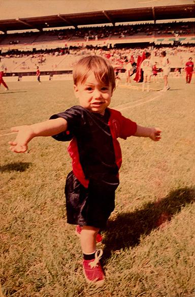 Foto de infância de James Rodríguez