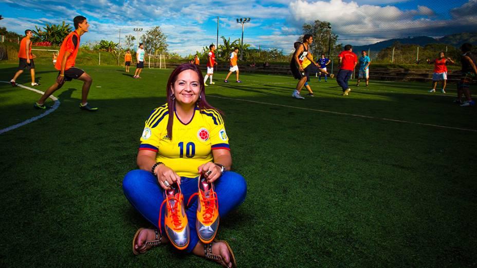 Patrícia Rubi, tia e responsável pela Fundação James Rodríguez  na cidade de Ibague, na Colômbia
