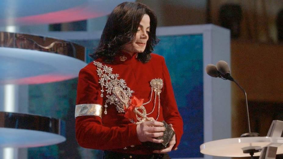 De veludo, na premiação da MTV americana em 2002