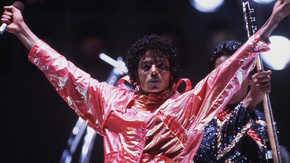 Durante show em 1984, ainda na fase nailon