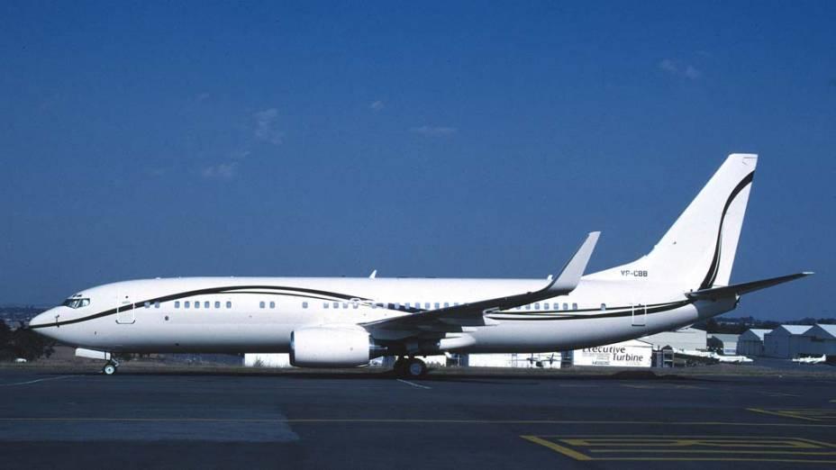 Business Jet 2, da Boeing: O jato de longo alcance permite voos do Rio de Janeiro a Londres, sem escalas. Comporta 78 passageiros, além de possuir uma suite e um lounge.