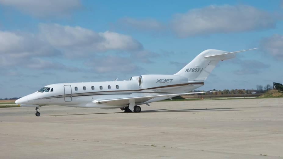Citation X da Cessna - Com capacidade para até 12 pessoas, o jato é considerado um dos mais rápidos de sua categoria e concorre diretamente com o Legacy, da Embraer