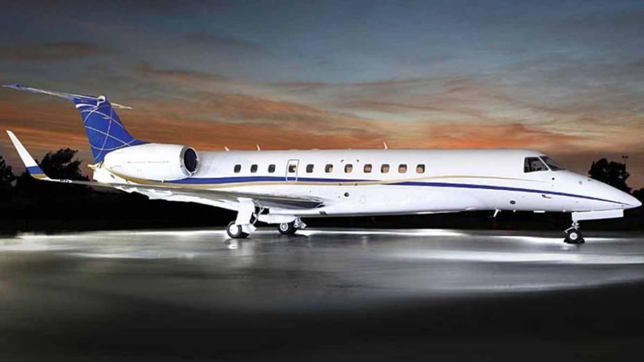 Legacy 600 da Embraer - O jato fabricado no Brasil comporta até 16 passageiros e pode voar distâncias dentro da América Latina e da costa ocidental da África