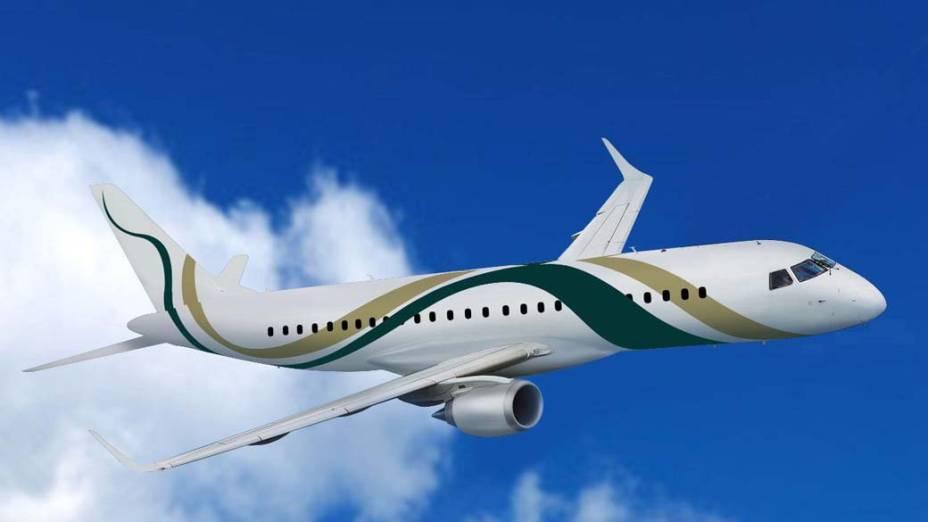 Lineage 1000, da Embraer - Jato é o modelo mais luxuoso da fabricante brasileira. Um exemplar dele foi cedido à presidente Dilma Rousseff para ser utilizado ao longo de seu primeiro ano de governo