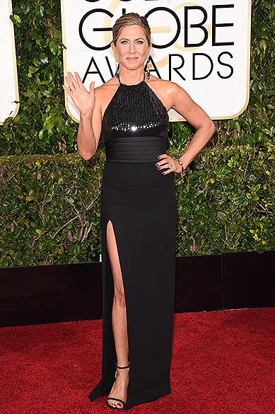 Jennifer Aniston durante 72ª edição do Globo de Ouro, prêmio da associação de correspondentes de Hollywood que elege os melhores do cinema e da TV, em Los Angeles, nos EUA