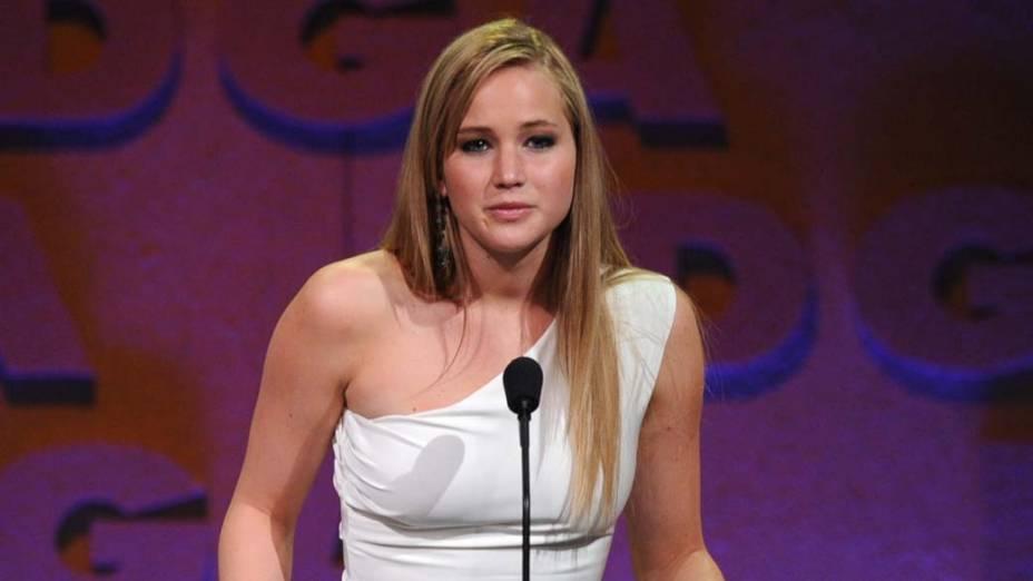 Jennifer Lawrence como apresentadora da 63ª edição do Directors Guild Of America, o prêmio do sindicato dos diretores, nos Estados Unidos