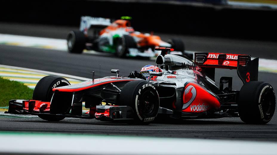 Jenson Button durante o GP do Brasil de Fórmula 1, em Interlagos