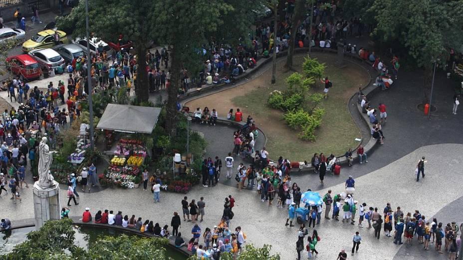 JMJ: Peregrinos engrossaram as filas de acesso ao Cristo Redentor nesta segunda (29/7)