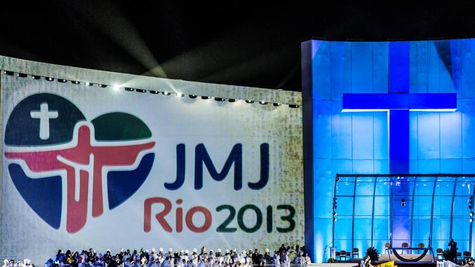 Missa de abertura da Jornada Mundial da Juventude (JMJ) em Copacabana, no Rio de Janeiro