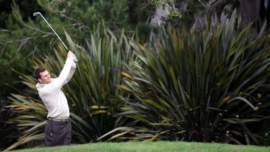 Tom Brady durante partida de golf em Pebble Beach