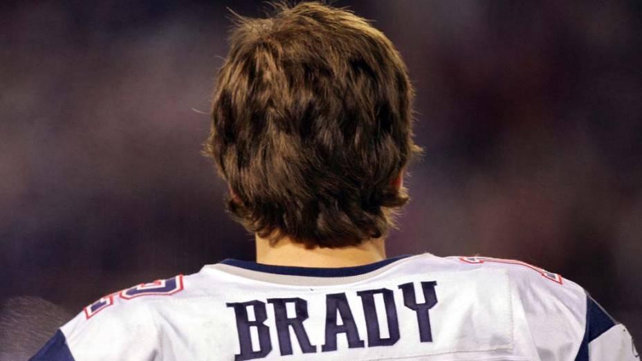 """Tom Brady durante partida contra os """"New York Giants"""""""