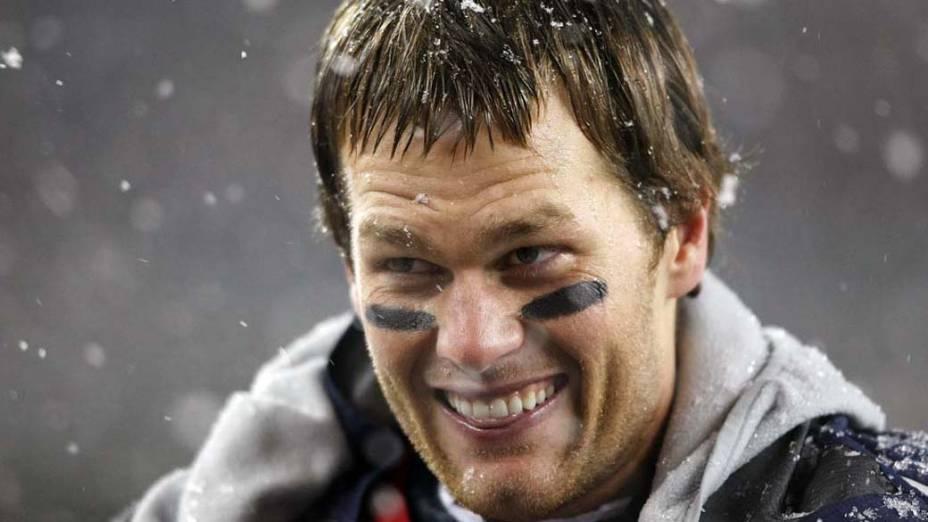 """Tom Brady durante partida do """"New England Patriots"""" contra o """"Tenessee Titans"""""""