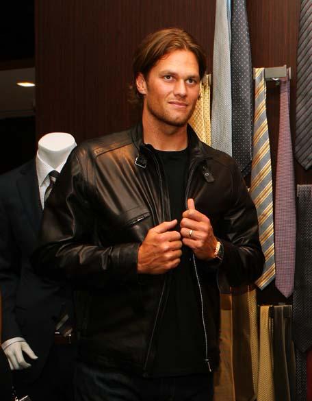 Tom Brady em inauguração de loja na butique Ermenegildo Zegna